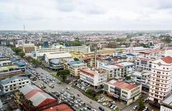 Sibu stadshorisont royaltyfria foton