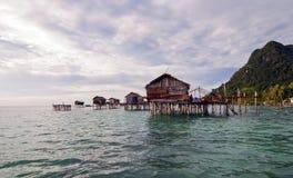 SIBUAN海岛,沙巴,马来西亚- 3月03 :未认出的海欺骗 库存照片