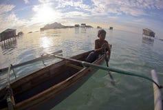 SIBUAN ISLAND, SABAH, MALAYSIA - MARCH 03 : Unidentified Sea Gyp Royalty Free Stock Photo