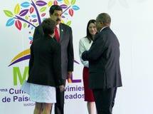 Sibusiso Barnabas Dlamini, Premierminister des Königreiches von Swasiland und venezolanischer Präsident Nicolas Maduro Lizenzfreies Stockbild