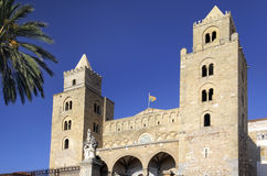 Sicília, cefalu cathédral imagem de stock royalty free