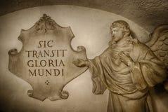 Sic transit gloria mundi Łaciński zwrot zdjęcia royalty free
