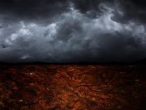 Siccità su terra in futuro Fotografia Stock