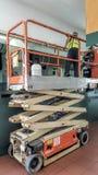 Siccors lift platform or ladder Royalty Free Stock Photos
