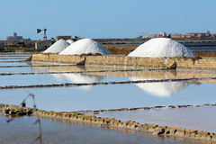 Sicely. Trapani's saline panorama Stock Photo