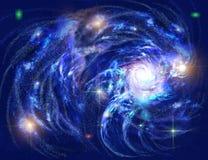 Sich fortbewegende Galaxie stock abbildung