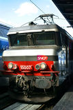 Sich fortbewegende SNCF-Bahnstation Gare de l'Est Paris Lizenzfreies Stockfoto