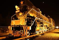 Sich fortbewegender alter Zug Dampf-Zug lizenzfreies stockfoto