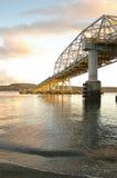 Sich hin- und herbewegende Brücke Lizenzfreie Stockfotos