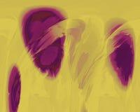 Sich hin- und herbewegende Ellipsen in Burgunder und im Gelb vektor abbildung
