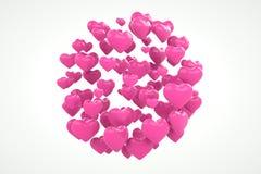 Sich hin- und herbewegende Herzen Stockbild
