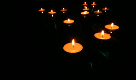 Sich hin- und herbewegende Kerzen 4 Lizenzfreies Stockbild