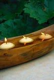 Sich hin- und herbewegende Kerzen Lizenzfreie Stockfotografie
