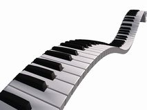 Sich hin- und herbewegende Klaviertastatur Stockbilder