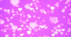 Sich hin- und herbewegende nahtlose Schleife der Herzen lizenzfreie abbildung