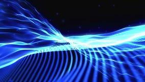 Sich hin- und herbewegende Partikel stock abbildung