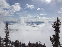 Sich hin- und herbewegende Wolken Lizenzfreies Stockbild