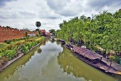 Sich hin- und herbewegender Markt Ayutthaya, Thailand, am 7. November 2015 Ayutthaya, Stockfotografie