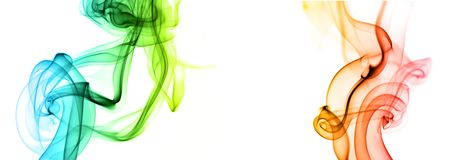 Sich hin- und herbewegender Rauch Stockfotografie