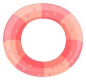 Sich hin- und herbewegender Ring in der rosa Farbe vektor abbildung