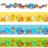Sich hin- und herbewegendes Blasen-Fahnen-Set Stockbilder