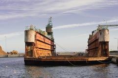 Sich hin- und herbewegendes Dock Stockbild