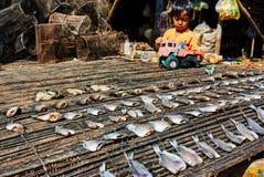 Sich hin- und herbewegendes Dorf Kambodscha Tonle-Safts lizenzfreies stockfoto
