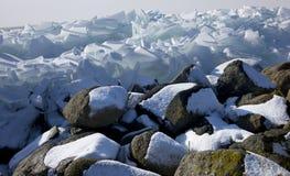 Sich hin- und herbewegendes Eis Stockfoto