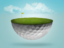 Sich hin- und herbewegendes Golfballgrün stock abbildung