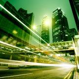 Sich schnell bewegende Autos Lizenzfreie Stockfotografie