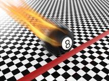 Sich schnell bewegender Ball acht Lizenzfreies Stockfoto