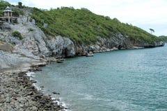 Sichang de roche de côte de falaises Photographie stock