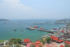 Sichang island. Town on Sichang island with the harbour stock photography