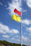 Sichere Badenflagge Stockfotografie