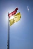 Sichere Badenflagge Lizenzfreie Stockfotos
