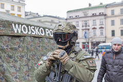 Sichere Polen NATO-Willkommenszeremonie in Krakau, Polen Lizenzfreies Stockbild