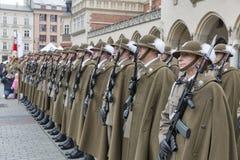 Sichere Polen NATO-Willkommenszeremonie in Krakau, Polen Stockbilder