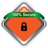 sicherer Knopf des Netzes 100 lokalisiert auf weißem Hintergrund lizenzfreie abbildung