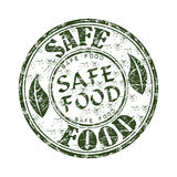 Sicherer Nahrunggrunge Stempel Lizenzfreie Stockfotos