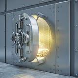 Sicherer Speicher 3d der Bank Stockfotos