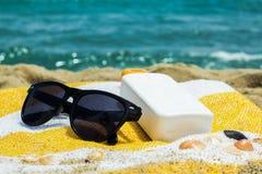 Sicherer Strandurlaub Stockbild