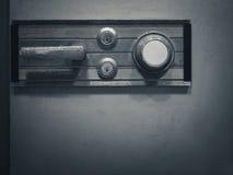 Sicherer Verschlusscode auf Sicherheitskasten-Bank Passwortsicherheit Stockbild