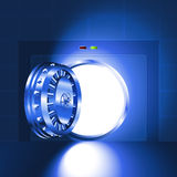 Sicheres Blau der hellen offenen Tür Stockfotos