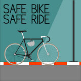 Sicheres Fahrrad-sichere Fahrt Stockfotos