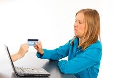 Sicheres on-line--Pyaments Lizenzfreies Stockfoto