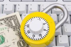 Sicheres Onlineeinkaufen Lizenzfreies Stockbild