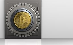 sicheres Safe des Metall 3d Lizenzfreie Stockfotos