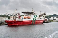 Sicheres schnelles Unterkunftsschiff in Aalborg, Dänemark Stockfotografie