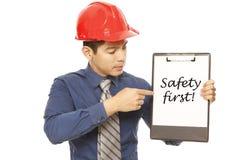 Sicherheit erste! Stockfotos