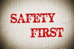 Sicherheit erste Lizenzfreies Stockfoto